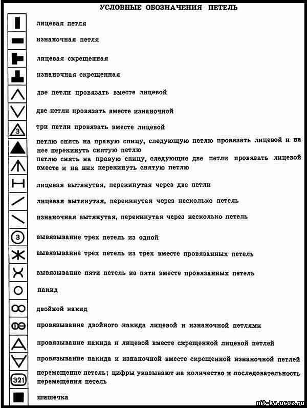 Обозначения вязания 69